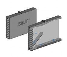 Вспомогательный элемент кладки Полипласт Вентиляционная коробочка 80x60x10 мм серый