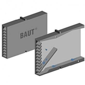Вспомогательный элемент кладки Полипласт Вентиляционная коробочка 115x60x10 мм серый