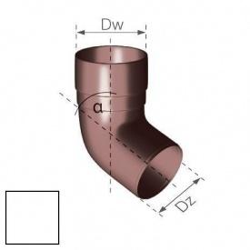 Коліно Gamrat 67,5° 90 мм біле