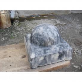 Шар на столб из бетонного мрамора