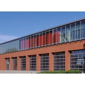 Промышленные секционные ворота с остеклением Hormann ALRF42 Thermo