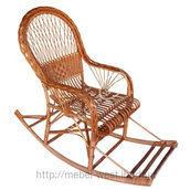 Кресло-качалка с косой плетеное 120х115х65 см