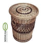 Плетеная корзина для белья Бочка 40х58 см
