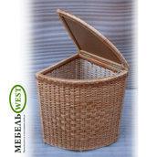 Плетеная корзина для белья угловая 35х55 см