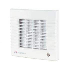 Осевой вентилятор с автоматическими жалюзи VENTS МА 100 турбо 128 м3/ч 20 Вт