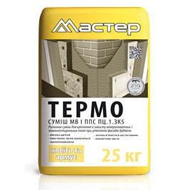 Клей для пінопласту та мінвати Майстер Термо 25 кг