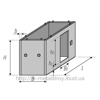 Шахта лифта железобетонная ШЛС 30-32-2 2980х1810х955 мм