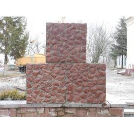Бетонный заборный блок 1х1х0,4 м