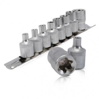 Набор торцевых головок Intertool Torx ET-6015 3/8 дюйма Е5-Е16 10 шт (ET-6015)