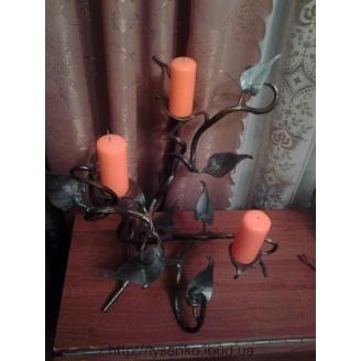 Подсвечник кованый на три свечи