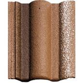 Цементно-піщана черепиця BRAAS Адрія Люміно коричнева з відливом