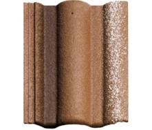 Цементно-песчаная черепица BRAAS Адрия Люмино коричневая с отливом