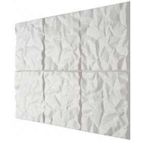 Скульптурні акустичні панелі Soundwave Scrunch поліестер 585*585*80 мм білий
