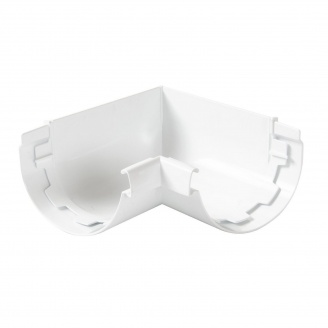 Кут ринви внутрішній 90° Nicoll 29 VODALIS 140 мм білий