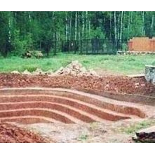 Строительство бассейна мини-экскаватором Caterpillar 305E