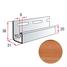 Планка J-trim Альта-Профіль KANADA Плюс Преміум 3660 мм дуб світлий