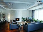Дизайн багаторівневої стелі у вітальні