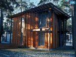 Импозантный деревяный коттедж