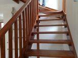 Открытая лестница бук тонированный под тик