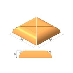 Крышка столбов Керамейя ЖЕМЧУГ Н/500 500х500х120 мм