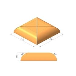Крышка столбов Керамейя МАГМА Диабаз Н/450 450х450х120 мм