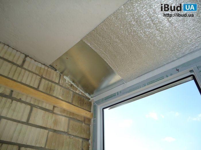 Шумоизоляция козырька балкона