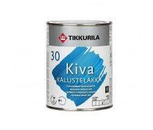 Акрилатный лак для мебели Tikkurila Kiva kalustelakka puolihimmea 0,9 л полуматовый