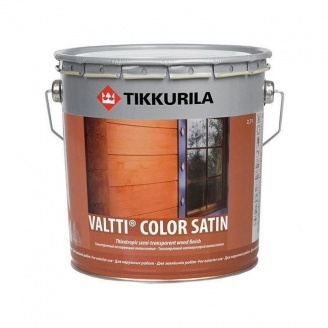 Лессирующий антисептик Tikkurila Valtti color satin kuultava puunsuoja 9 л полуматовый