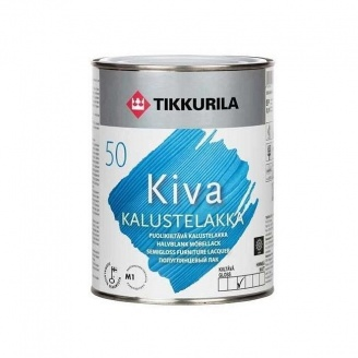Акрилатный лак для мебели Tikkurila Kiva kalustelakka puolikiiltava 0,9 л полуглянцевый