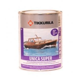 Износостойкий уретано-алкидный лак Tikkurila Unica Super kiiltava 0,9 л глянцевый