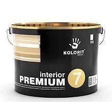Латексная краска Kolorit Interior Premium 7 шелковисто-матовая 10 л