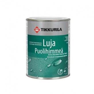 Покрывная краска Tikkurila Luja puolihimmea базис C 9 л полуматовая