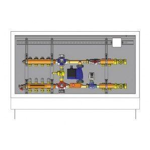 Шафа управління для систем підлогового опалення HERZ 4 відводи (3F53124)