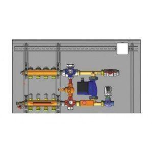 Шафа управління з термоприводами HERZ підключення праворуч 8 відводів 230 В (3F53308)