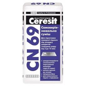 Самовыравнивающаяся смесь CN 69 25 кг для подготовки поверхности пола по укладку покрытий (3-15мм)