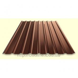 Профнастил для забора ПС-20 с полимерным покрытием коричневый