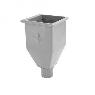 Водосборная воронка удлиненная АКВАСИСТЕМ 100 мм из цинк-титана
