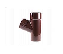 Тройник 60 градусов Profil 75/75 коричневый