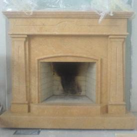 Фронтальный камин из мрамора Тиа Роз