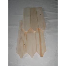 Дерев'яна черепиця 13x85x500 мм