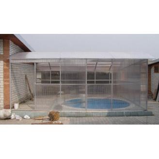 Павильон для бассейна прозрачный