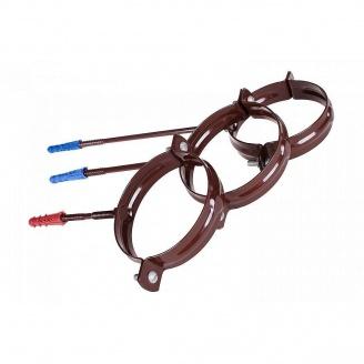 Держатель трубы стальной Profil 130/100 220 мм коричневый