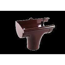 Ливнеприемник левый L Profil 130/100 коричневый