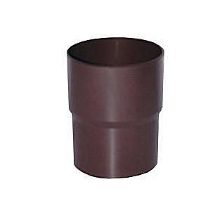 Соединитель трубы водосточной Profil 90/75 коричневый