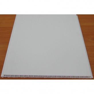 Вагонка пластиковая бесшовная 250*6000*10 мм снежно-белая