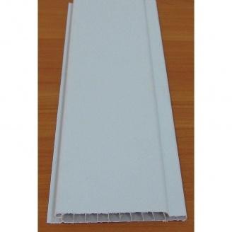 Вагонка пластиковая наружная 10 см белая