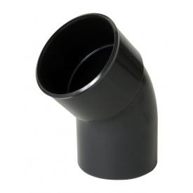 Відвід одномуфтовий Nicoll 45° темно-сірий