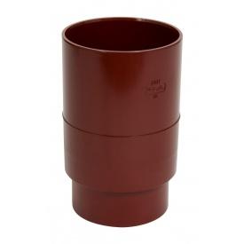 Муфта водостічної труби Nicoll червоний