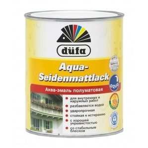 Эмаль Dufa Aqua-Seidenmattlack 0,75 л белый