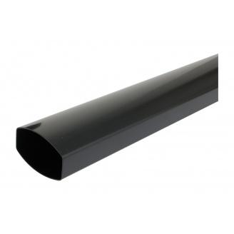 Труба водостічна Nicoll 28 OVATION 80 мм темно-сірий